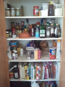 Ignore the top shelf. I didn't start taking pictures until after I cleaned and organized it.
