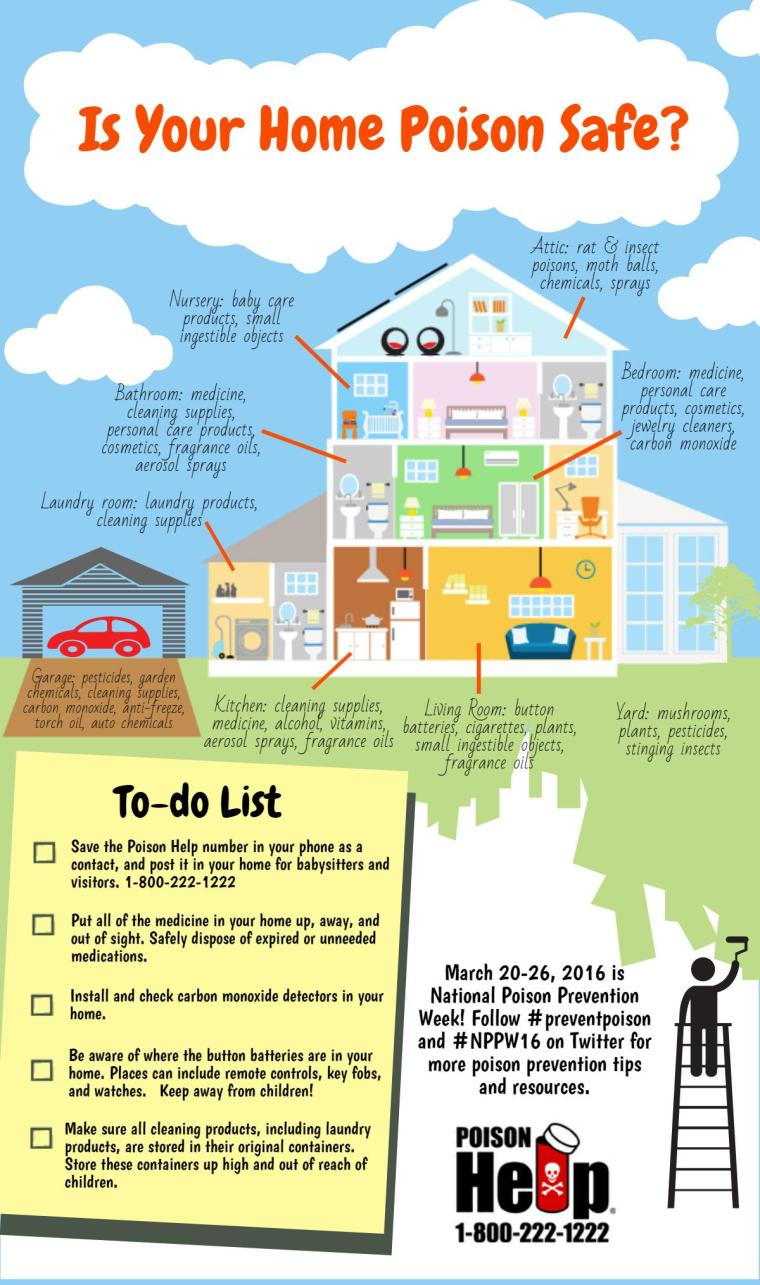 2016 Is Your Home Poison Safe Infographic