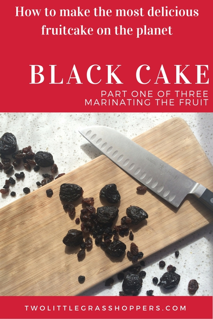 Bake a traditional caribbean Black Cake, a gorgeous desert for the Christmas table. A recipe in 3 parts: Pt 1 Marinating the Fruit