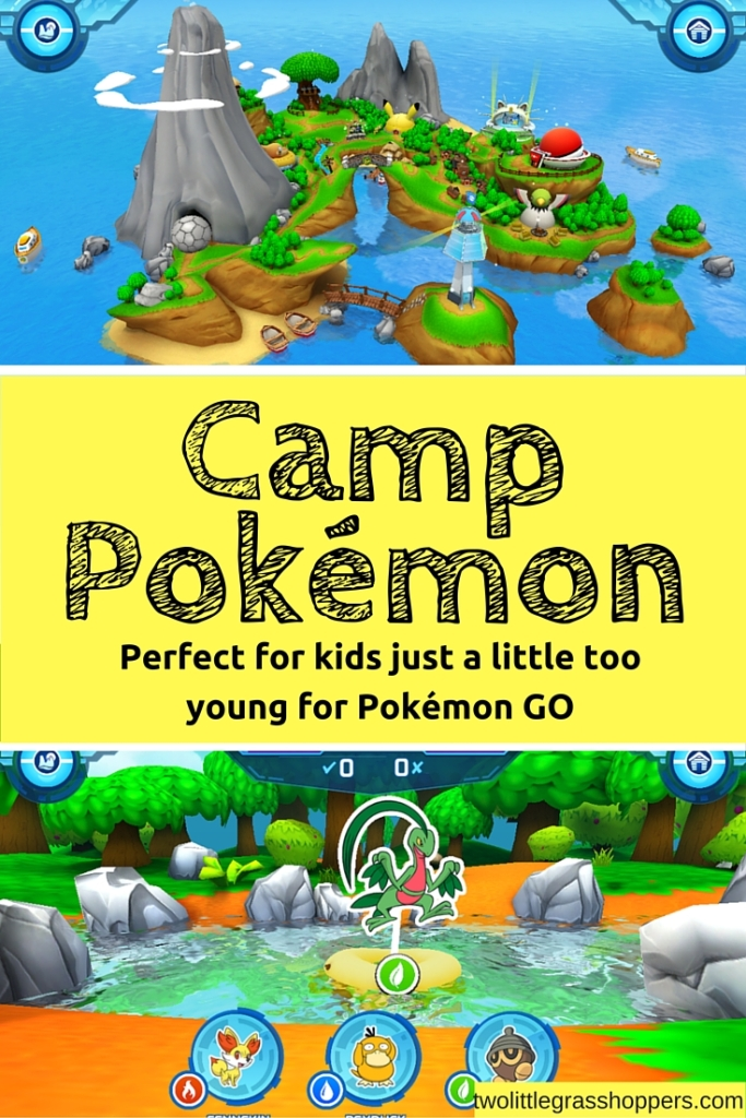 With lots of fun mini-games, Camp Pokémon is a great, free way for little kids too participate in the Pokémon excitement.