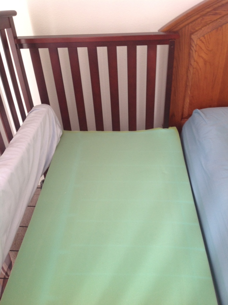 cosleeper sidecar crib high density foam
